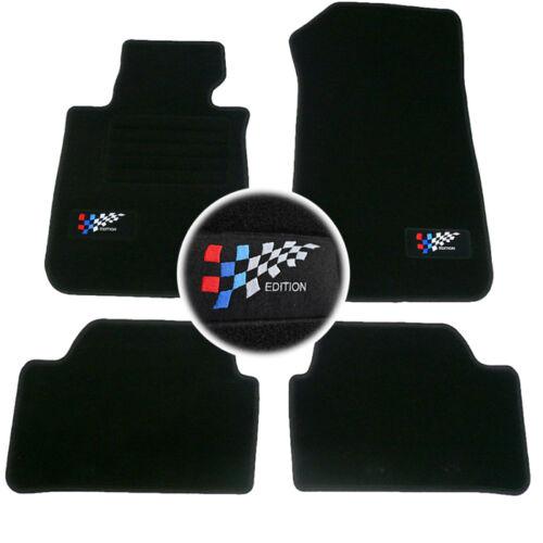 4 TAPIS SOL BMW SERIE 1 5 PORTE E87 2003-2012 MOQUETTE LOGO EDITION M SPECIFIQUE
