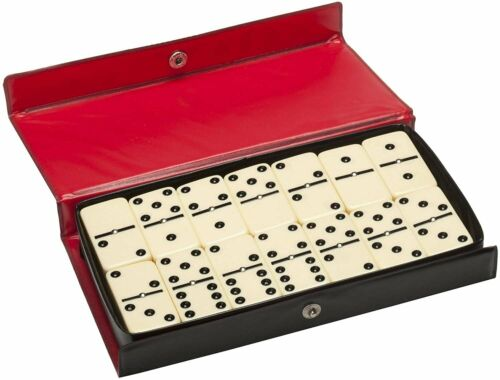Ivory Tiles Club Size WE Games Double Six Dominoes with Spinners