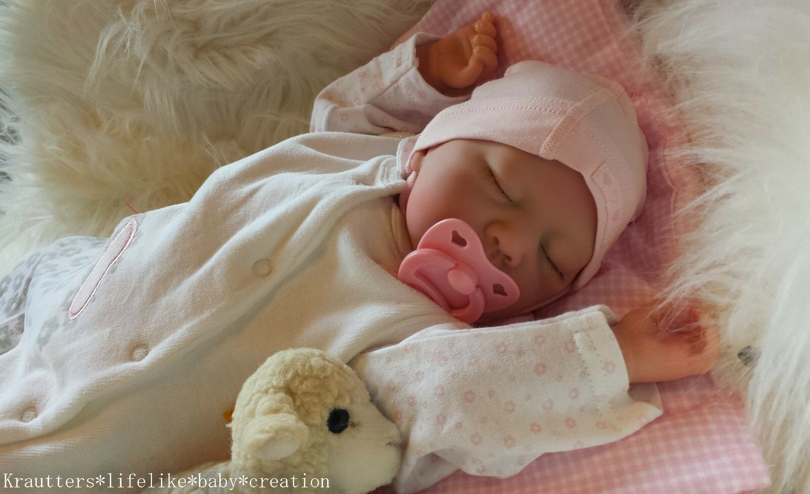 ✨♥Reborn Reallife Baby Girl BS von U.L Krautter Babypuppe Rebornbaby Puppe♥✨