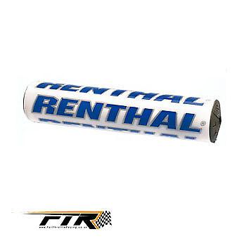 "Renthal White/Blue 10"" Handlebar Bar Pad Suzuki RMZ Z RM 85 125 250 450"