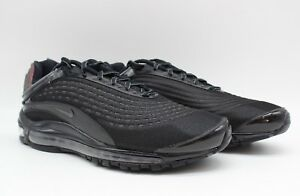 new product f6552 54318 Image is loading Nike-Air-Max-Deluxe-QS-Triple-Black-Reflective-