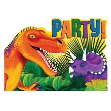 8pk Invitaciones De Cumpleaños Dinosaurio Prehistórico Fiesta Tarjeta Postal Stationery