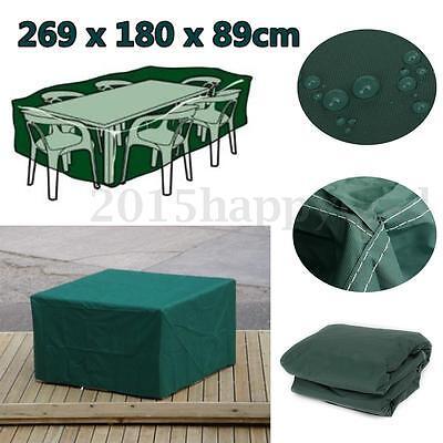 269cm Funda For mesa Muebles de Jardín terraza Protección protectora Impermeable