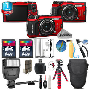 Olympus-Stylus-TOUGH-TG-5-Camera-Extra-Battery-Flash-amp-More-128GB-Kit
