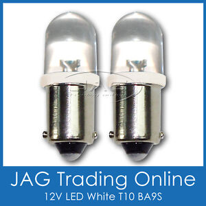 PAIR 12V LED T10 BA9S AUTOMOTIVE PARKER GLOBES HID LOOK WHITE - Caravan/Car/Auto