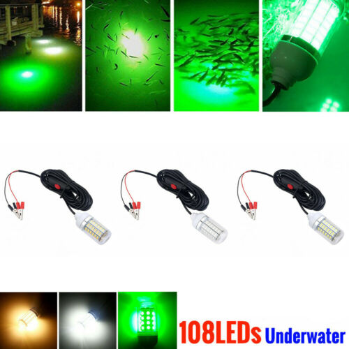 Underwater Fishing Light LED Lures Fish Finder Lamp For Attracts Prawns Squid UK