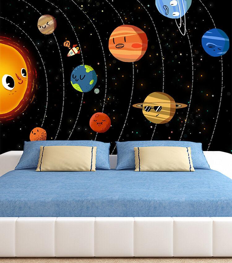 3D Karikatur Planet 8933 Tapete Wandgemälde Tapeten Bild Familie DE Lemon