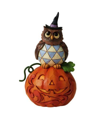 Jim Shore Heartwood Creek Halloween Mini Jack-O-Lantern Owl Figurine 6006704