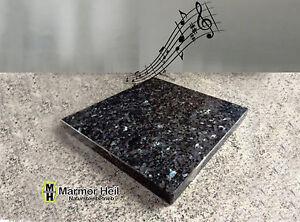 Labrador-Blue-Pearl-2cm-stark-Entkopplungsplatte-Geraetebasis-Lautsprecher-Granit