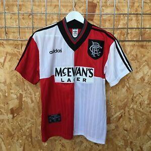 Rangers Adidas Away Shirt 1995/1996 - S SMALL - Top Kit Jersey Vintage