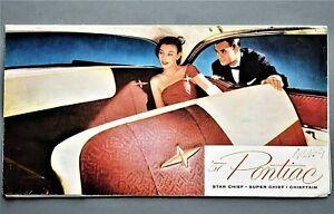 ORIGINAL-1957-PONTIAC-STAR-CHIEF-amp-SUPER-CHIEF-SALES-FOLDER-8-PANEL-57PON