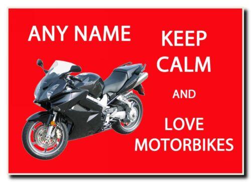 Restez calme et amour motos personnalisées Jumbo Aimant