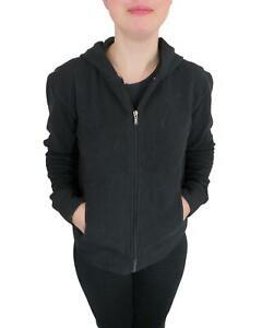 Patagonia Women's Plush Synchilla Fleece Hoody Jacket Large Black Full Zip Coat