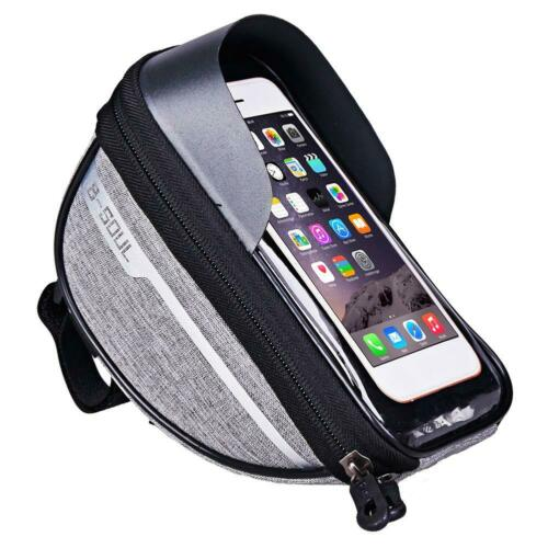Waterproof Cycling Bike Bicycle Front Frame Pannier Tube Bag For Mobile Phone