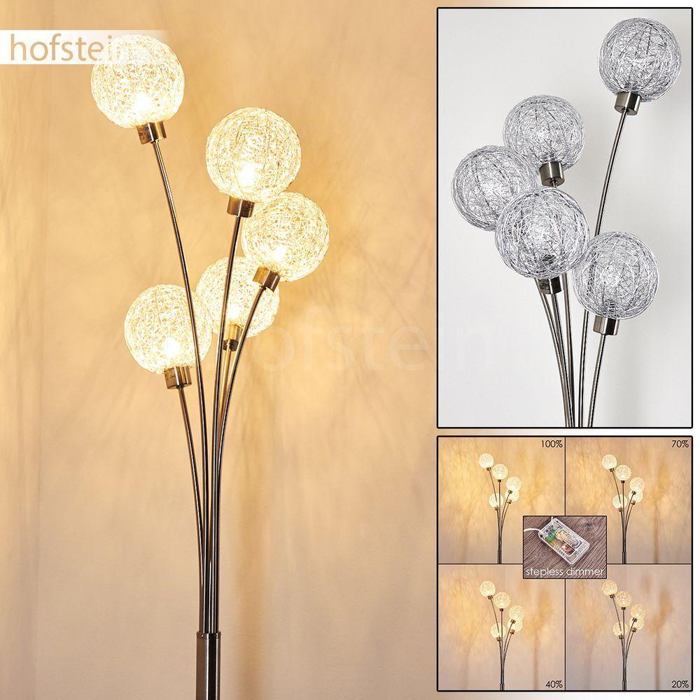 PIANTANA Moderna Pavimento Stand Lampada dimmerabile salotto sonno Illuminazione Colorei argentoo