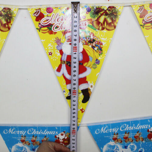 Merry Christmas Banner Bunting Garland Hanging Flag XMAS Party Decoration Decors