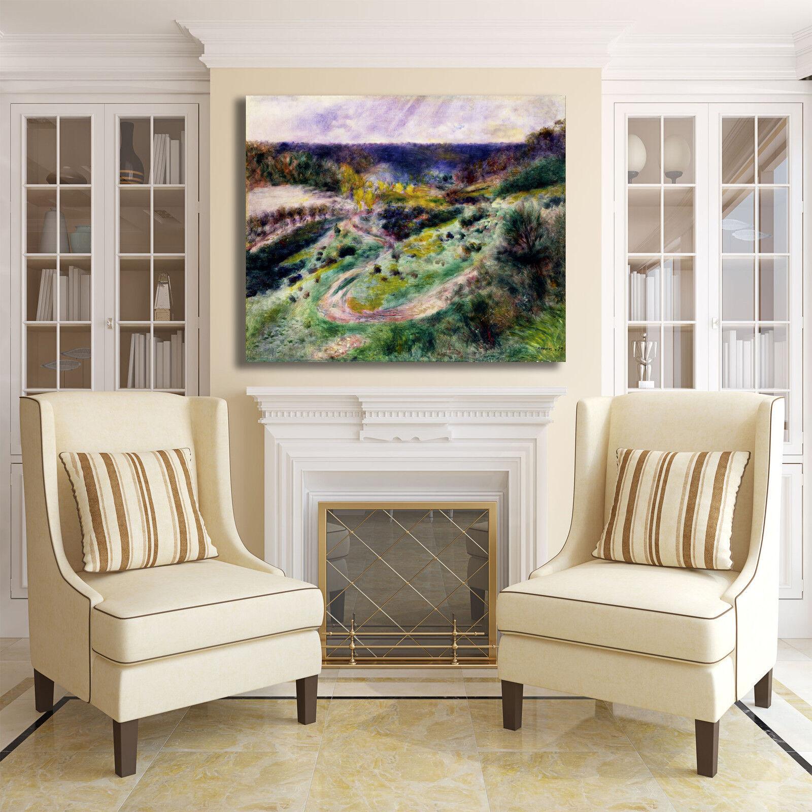 Renero strada a Wargemont design quadro stampa tela dipinto dipinto dipinto telaio arrossoo casa 96a75d