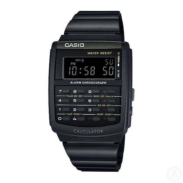 CASIO Vintage Calculator Digital Classic Black Retro Watch CA-506B-1A