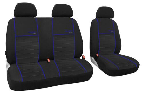 Autositzbezug maßgefertigt im Design TRENDLINE Mercedes Vito W447 in BLAU.