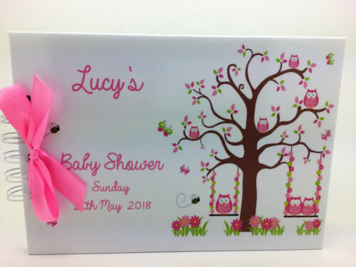 A5 PERSONALISED BABY SHOWER//CHRISTENING GUEST//PHOTO BOOK A5 Scan Photos