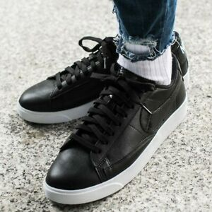 online store b880c 1478c Details about New Nike SB Blazer Low Black White Leather Summer Trainers  Men Women Size 4 4.5