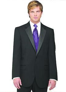 Purple Vest /& Tie Sizes 34-50 Short 7-Piece Tuxedo Package w//Flat Front Pants