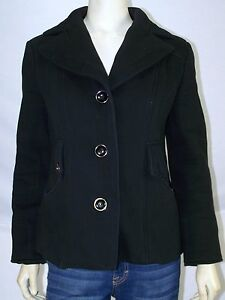 Kenneth-Cole-Reaction-Black-V-Neck-Long-Sleeve-Jacket-Womens-Size-Small-4-6