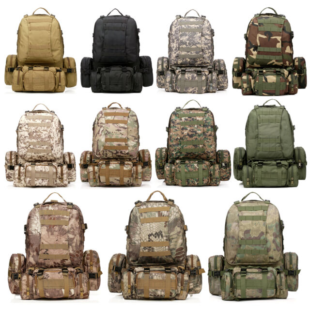 New 50L Outdoor Camping Molle Assault Tactical Military Rucksacks Backpack Bag
