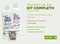 Shampoo De Ajo Nora Ross Kit Completo Combate Caida De Cabello - Caspa -seborrea