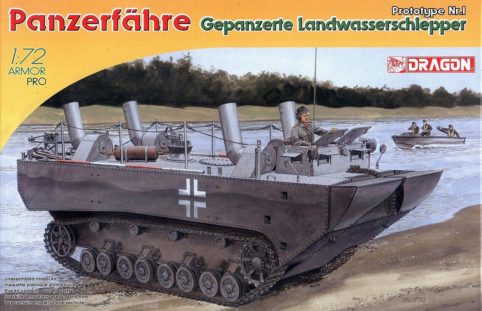 Dragon 1 72 7489 WWII Panzerfahre Predtype Nr.1 Gepanzerte Landwasserschlepper