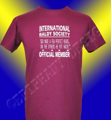 Bald Man Tribute T-Shirt International Baldy Society T-Shirt Gift T-Shirt Funny