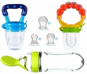 Fabur 2pcs Chupete Fruta Bebe Innovador Chupete de Frutas Juguete para la Dentici/ón del Chupete Infantil para la Dentici/ón de Frutas 9pcs Tetinas de Silicona 3 * 3