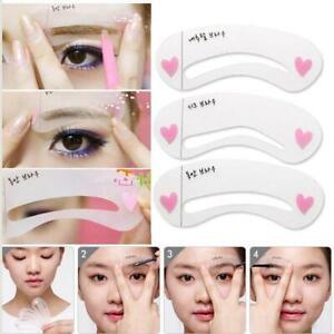 6-Eyebrow-Stencils-Grooming-Shaper-Kit-Brow-Template-Makeup-Reusable-Tools