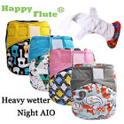 Happy Flute 1pcs heavy wetter night AIO baby cloth diaper nappy one size fit all
