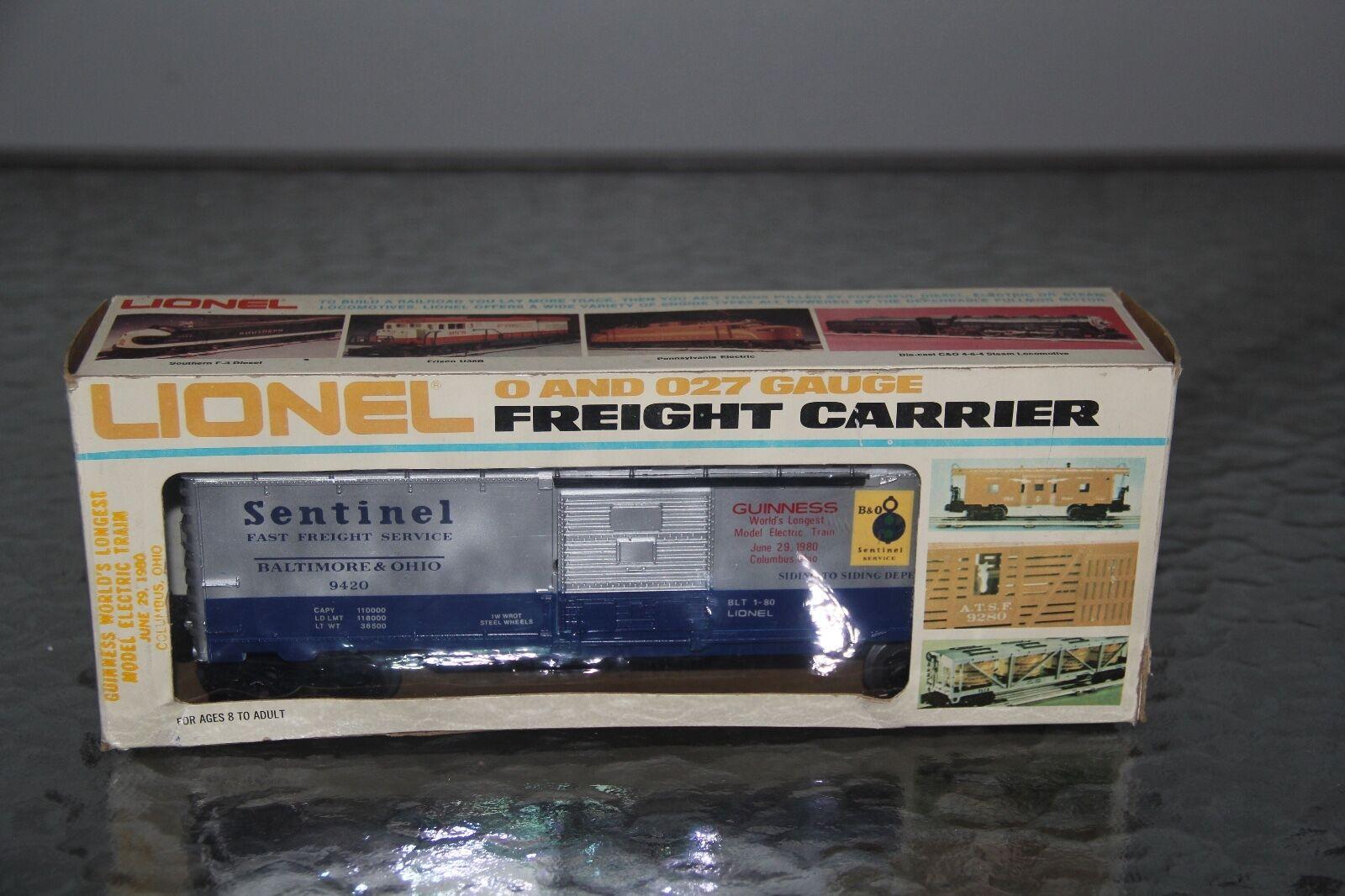 Lionel Tvs Baltimore Ohio Sentinel Guinness World's registros coche de caja de 6-9420