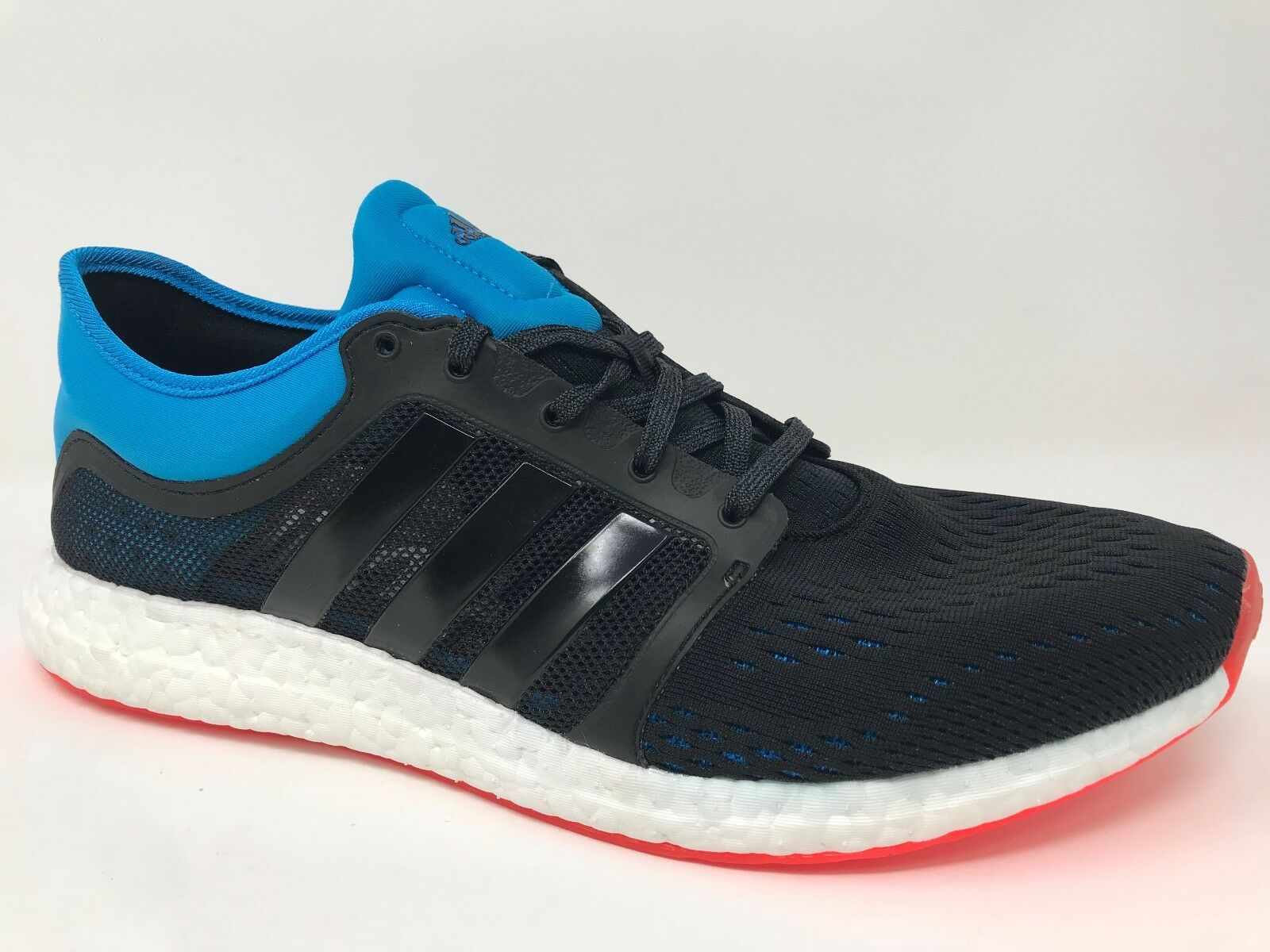 New! Men's adidas B25275 ClimaChill Rocket Boost Running Shoes Black/Blue C62