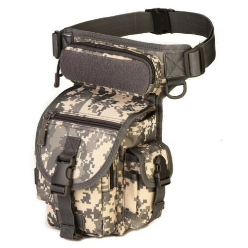 Fishing Tactical MOLLE Drop Leg Bag Panel Utility Pouch Bag Thigh Pack Military