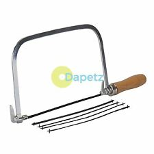 Coping Saw & 5 Blades - 170mm 360° Blade Angle Adjust Cutting Circles Curves