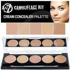 W7 Camouflage Kit Cream contorno Tavolozza di correttori 5 Tonalità & SPECCHIO & Spazzola