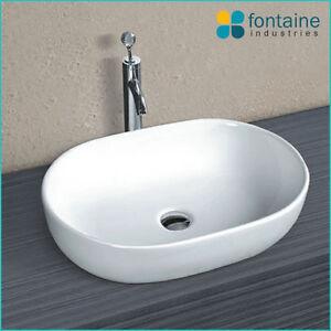 ... -Counter-Basin-Bathroom-White-Ceramic-Modern-Large-Sink-Beauty-Oval