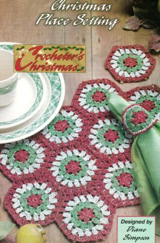 PRETTY Christmas Place Setting//Decor//Crochet Pattern INSTRUCTIONS ONLY