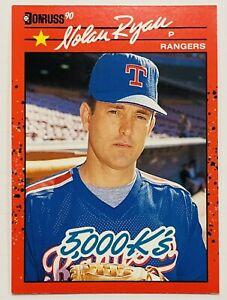 1990 Donruss Nolan Ryan 5000 Ks Error #665 King Of Kings Back Texas Rangers