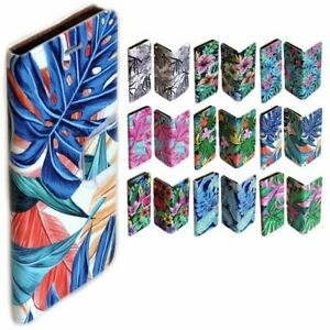 For Samsung Galaxy Series Tropical Leaf Pattern Wallet Mobile Phone Case Cover 2