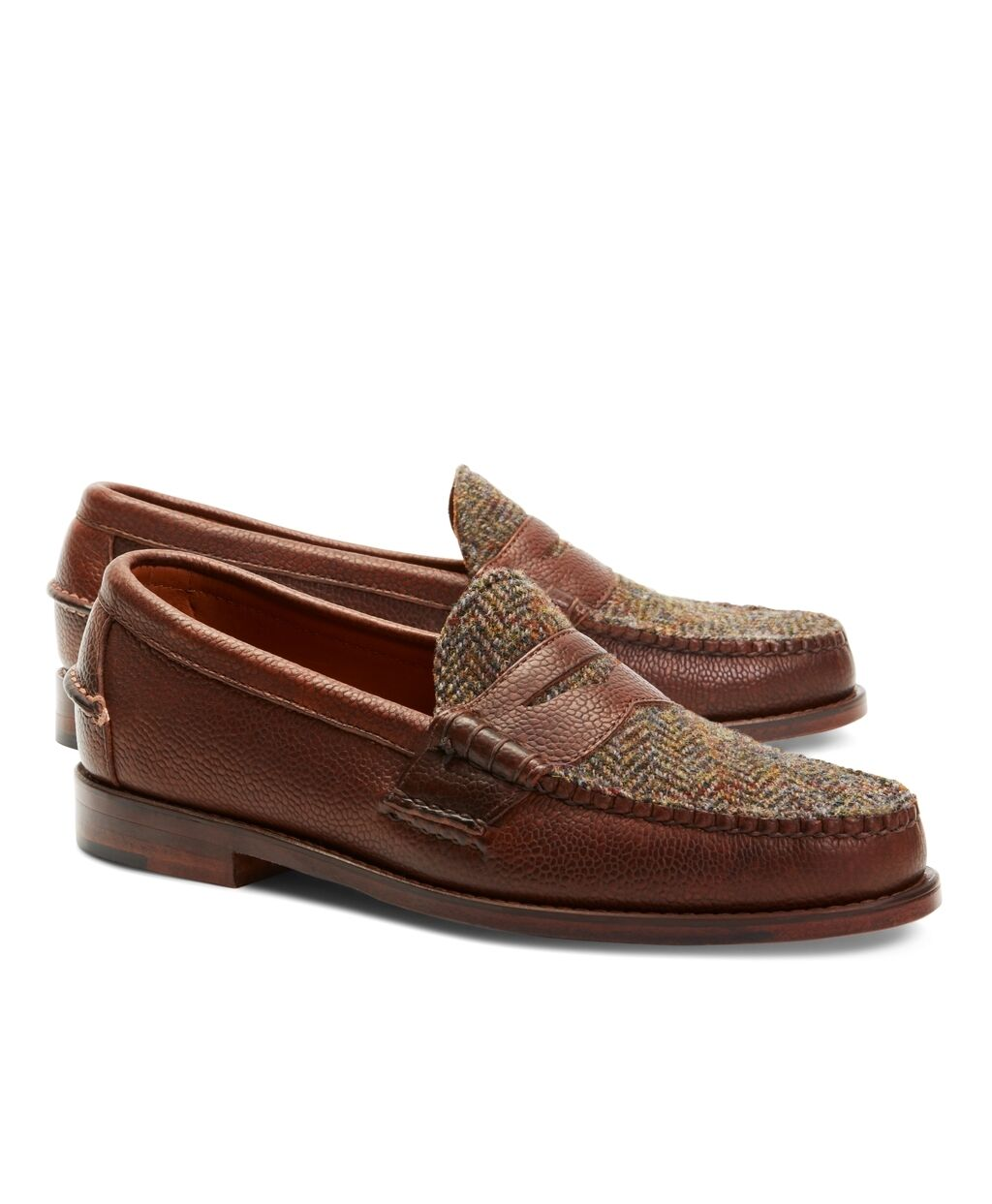 3e0e951d5662f RANCOURT   CO for BROOKS BROTHERS BROTHERS BROTHERS Men s Wool Plaid Penny  Loafers - Made in USA b3f1d0