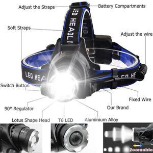 Waterproof-150000LM-T6-LED-Headlamp-Headlight-Flashlight-Head-Torch-18650-Camp