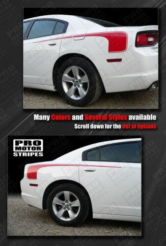 Choose Color Dodge Charger 2011-2014 Rear Quarter Side Hockey Stripes Decals
