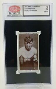 1938 WA & AC Churchman JIMMY WALSH Boxing Personalities #37 Tobacco Card NM MT 8