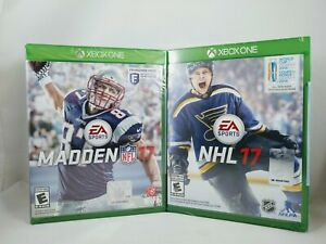 XBOX ONE Games Lot of 2, Madden NFL '17 and NHL 17, Free Shipping, Brand NEW