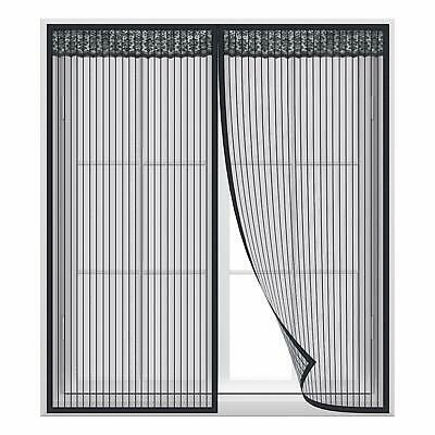 LiebenswüRdig Fliegengitter Fenster Insektenschutz Magnet Vorhang Für Schiebefenster Schwarz Direktverkaufspreis