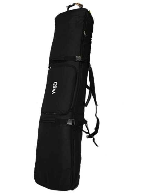 Fully Padded Travel Black Ski Snowboard Bag With Wheels Wheeled Wsd 155cm